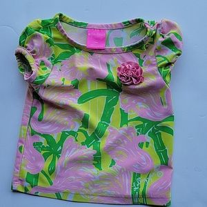 Lily Pulitzer by Target floral swim top 18 months